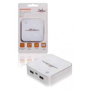 Аккумулятор внешний универсальный 7800мАч: 2хUSB 5V 1A+2.1A LED дисплей AIRLINE