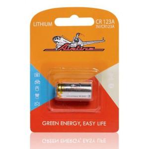 Батарейка CR123A 3V литиевая 1 шт. (CR123A-01) AIRLINE