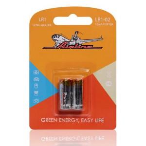 Батарейка LR1/910A щелочная 2 шт. (LR1-02) AIRLINE
