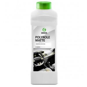 """Полироль-очиститель пластика матовый GRASS """"Polyrole Matte vanilla"""" (канистра 1л)"""