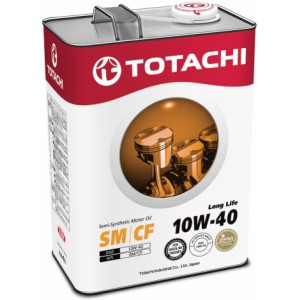 TOTACHI Long Life 10W-40(Спецификация: ACEA A3/B4, API SN/CF), 4 л