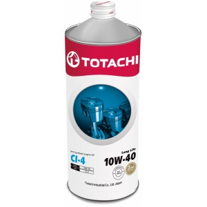 TOTACHI Long Life 10W-40(Спецификация: JASO DH-1, ACEA E7/E5, API CI-4), 1 л