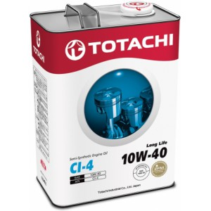TOTACHI Long Life 10W-40(Спецификация: JASO DH-1, ACEA E7/E5, API CI-4), 4 л