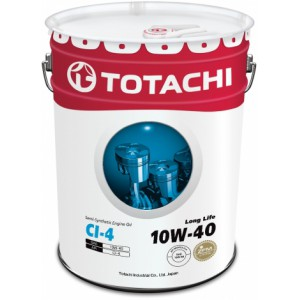 TOTACHI Long Life 10W-40(Спецификация: JASO DH-1, ACEA E7/E5, API CI-4), 20 л