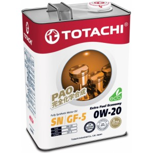 TOTACHI Extra Fuel Economy 0W-20, 4 л
