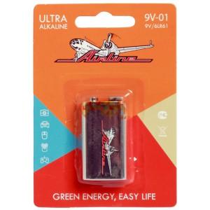 Батарейка 6LR61/Крона 9V щелочная 1 шт. AIRLINE