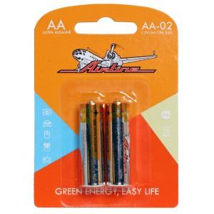 Батарейки LR6/AA щелочные 2 шт. AIRLINE