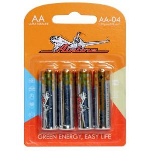 Батарейки LR6/AA щелочные 4 шт. AIRLINE