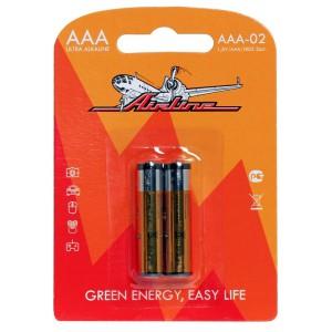 Батарейки LR03/AAA щелочные 2 шт. AIRLINE