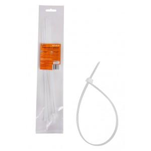 Стяжки (хомуты) кабельные 3,6*300 мм, пластиковые, белые, 10 шт. AIRLINE