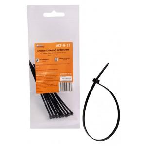 Стяжки (хомуты) кабельные 2,5*100 мм, пластиковые, черные, 10 шт. AIRLINE
