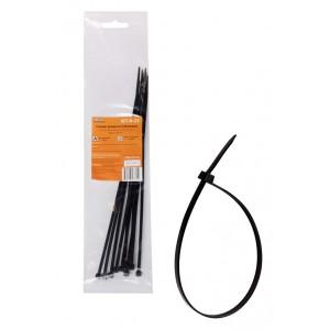 Стяжки (хомуты) кабельные 3,6*250 мм, пластиковые, черные, 10 шт. AIRLINE