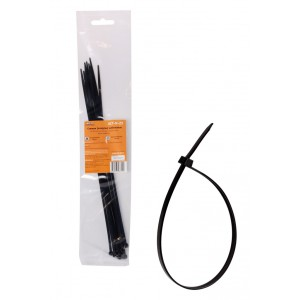 Стяжки (хомуты) кабельные 3,6*300 мм, пластиковые, черные, 10 шт. AIRLINE