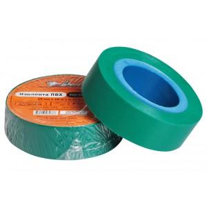 Изолента ПВХ, зеленая, 19 мм*10 м AIRLINE