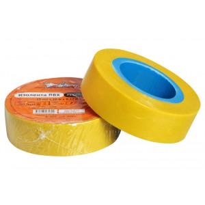 Изолента ПВХ, желтая, 19 мм*10 м AIRLINE