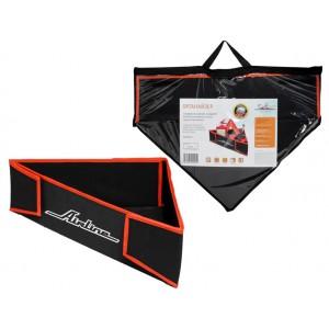 Органайзер угловой в багажник, складной 40*40*58*14 см (11л), черный/оранжевый AIRLINE