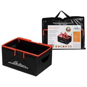 Органайзер в багажник, складной 36*18,5*26 см (17л), черный/оранжевый AIRLINE