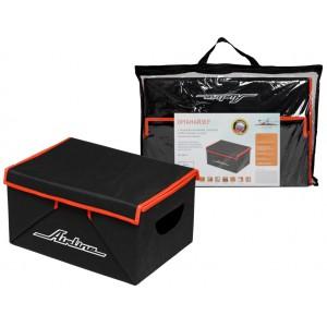 Органайзер  с крышкой в багажник, складной 46*19*32 см (28л), черный/оранжевый AIRLINE