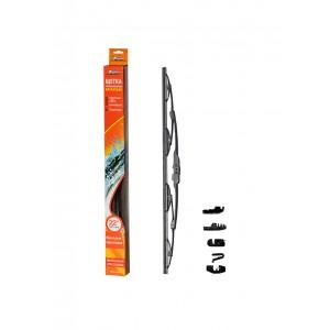 "Щетка стеклоочистителя 550 мм (22"") каркасная, 4 адаптера AIRLINE"