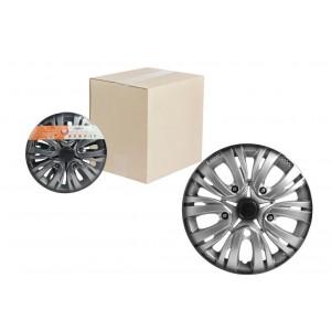 Колпаки колесные 13 дюймов Лион +, серебристо-черный, карбон 2 шт. AIRLINE