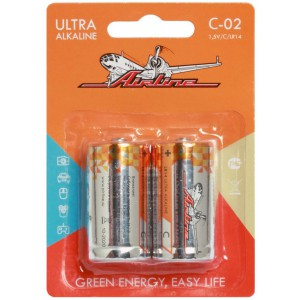 Батарейки LR14/С щелочные 2 шт. AIRLINE