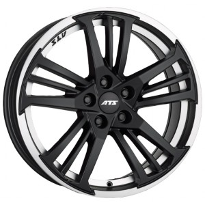 Диск 8.5x18 5x120 ET40 D72.6 ATS Prazision Racing Black Double lip polished