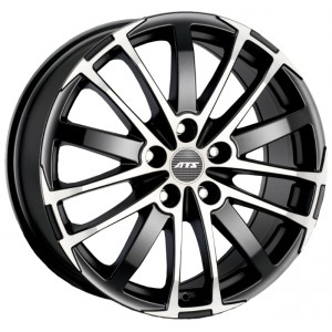 Диск 7.5x16 5x108 ET45 D70.1 ATS X-Treme Racing Black Front Polished