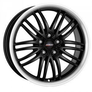 Диск 8.5x18 5x114.3 ET40 D70.1 Alutec BlackSun Racing Black Lip Polished