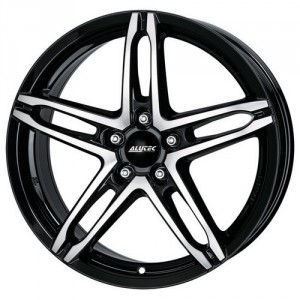 Диск 7x17 5x100 ET38 D63.3 Alutec Poison Diamant black front polished