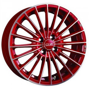 Диск 7x16 4x100 ET37 D68 OZ 35 TH Serie Rossa Red + Diamond Cut