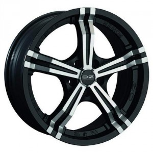 Диск 8x18 5x108 ET38 D75 OZ Power Matt Black + Diamond Cut