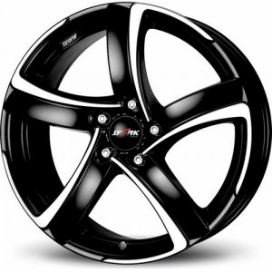 Диск 7x16 5x115 ET38 D70.2 Alutec Shark Racing black front polished