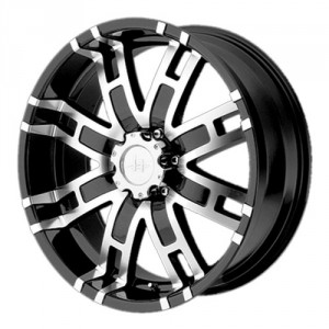 Диск 9.5x22 8x165 ET18 D125 Helo HE835 Black/Machined